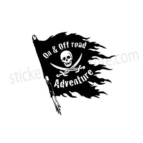 Pirate flag on & off road