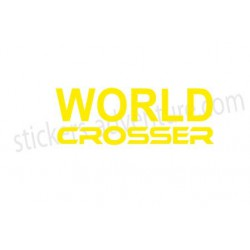 Sticker worldcrosser seul