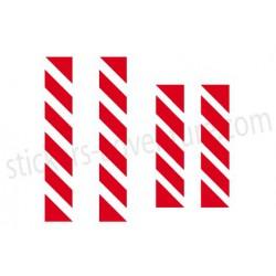 Reflective stripes