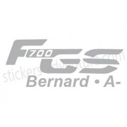 F700 GS nom et Gr. sanguin